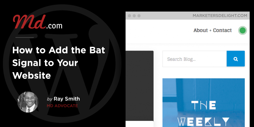 How to add the Bat Signal to your website