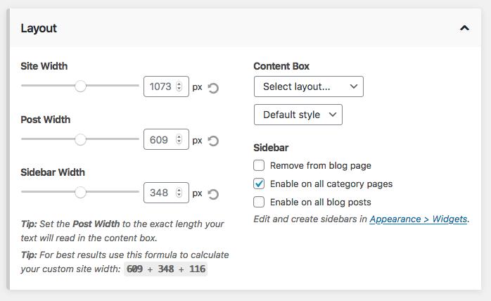 Blog and category sidebar toggle controls.