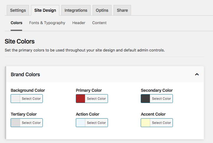 MD Site Design brand colors palette