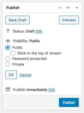 Make stream custom post type sticky