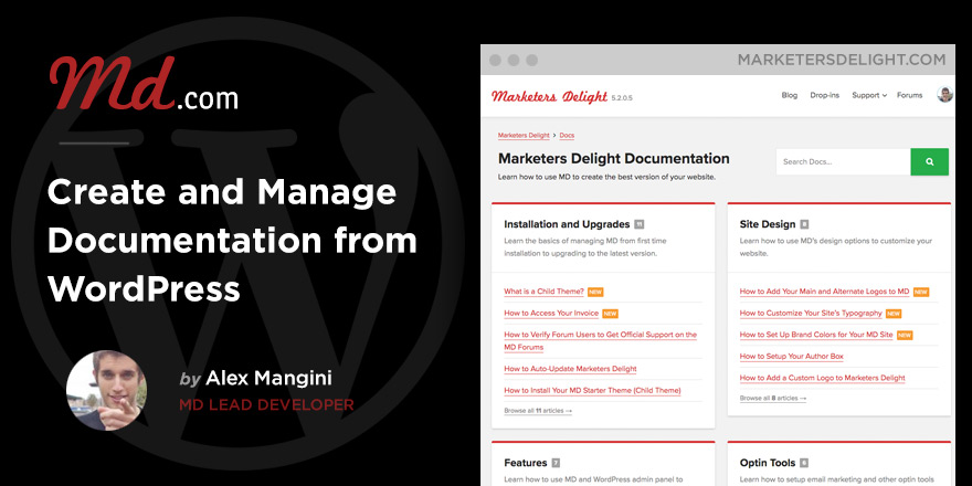 Build a Documentation Library from WordPress