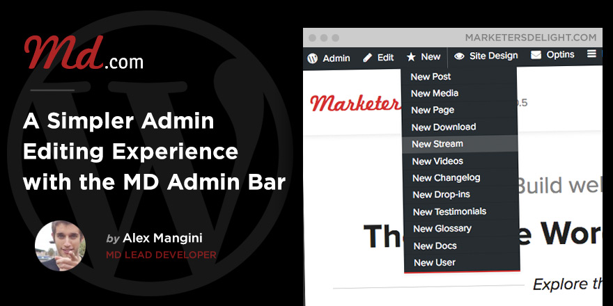 Faster admin experience with the MD Admin Bar