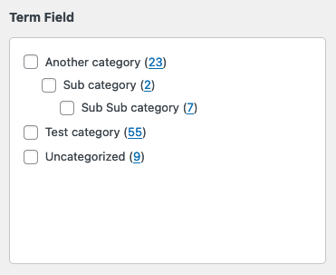 Create custom term select fields in WordPress.