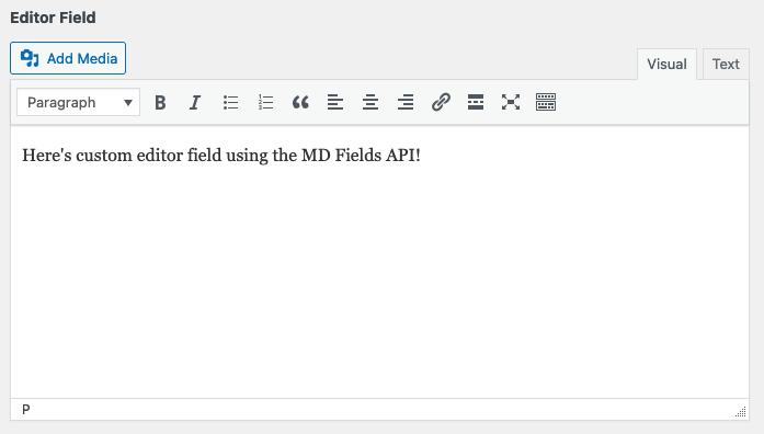 Create custom editor fields